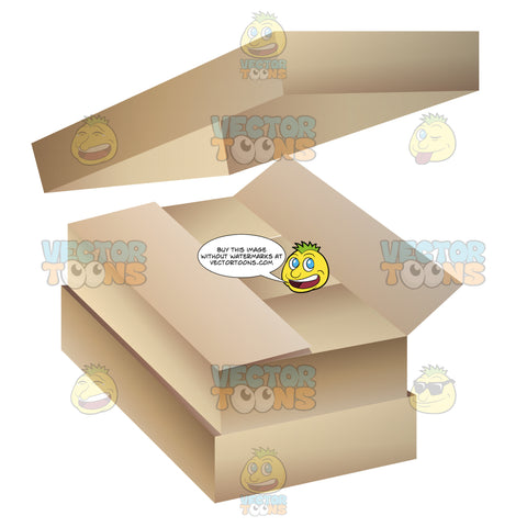 Stack Of Rectangular Boxes Used For Storing Or Shipping
