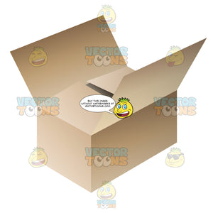 Cardboard Box Used For Storage Or Moving