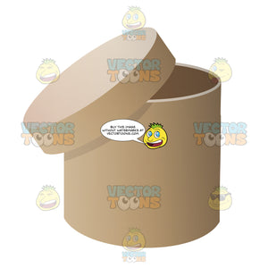 Circular Cardboard Box With Lid