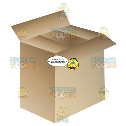 Tall Rectangular Box With Lid Opened