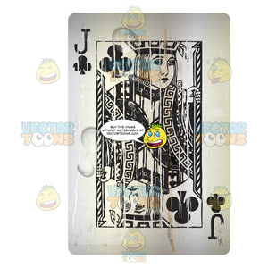 Distressed Jack Of Clubs Playing Card