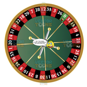 Birds Eye View Of Black Red And Green Roulette Wheel