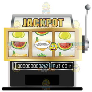 Jackpot Retro Classic Fruit Slot Machine With Pull Handle