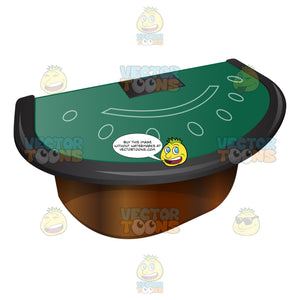 Professional Blackjack Table With Armrest