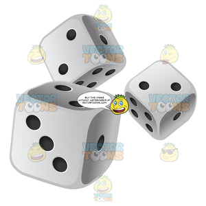 Multiple Black And White Dice