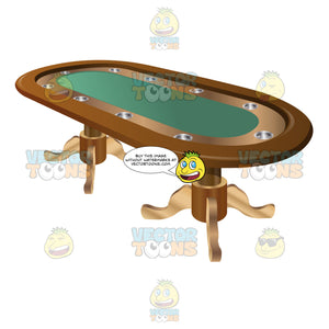 Stationary Oblong Poker Table
