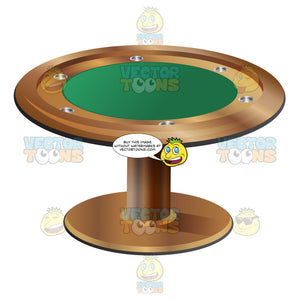 Stationary Round Poker Table