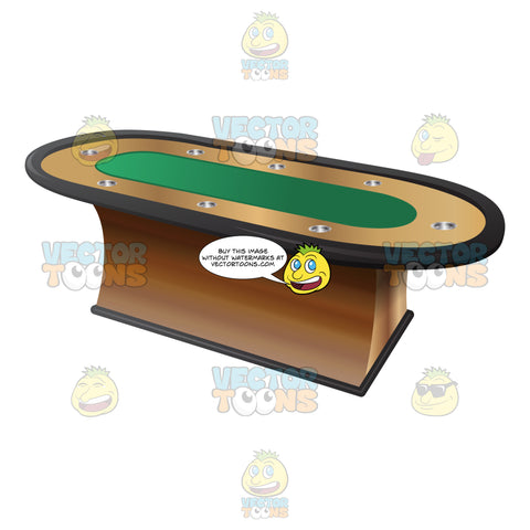 Luxurious And Sturdy Casino Poker Table