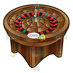 Roulette Wheel On A Stand