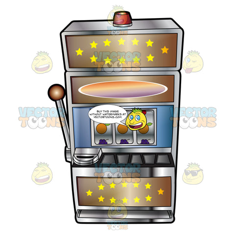 Stars And Fruit Mechanical Slot Machine
