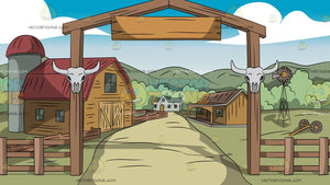Cattle Entrance Background