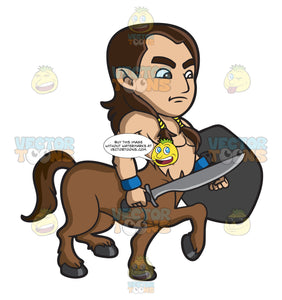 A Young Centaur Warrior
