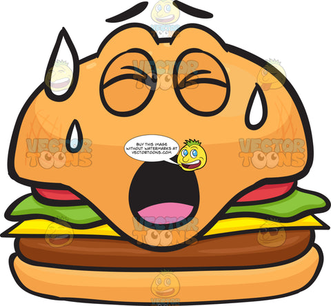 Cheeseburger Sweating In Pain