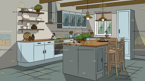 Chic House Kitchen Background