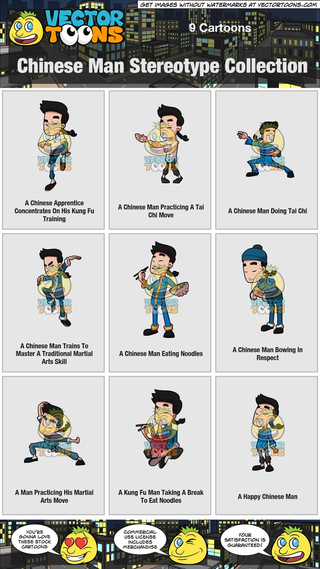 Chinese Man Stereotype Collection