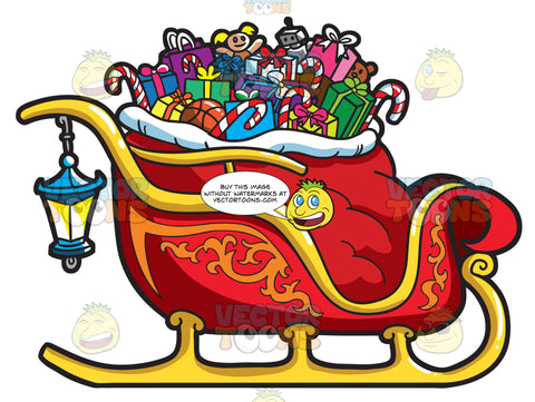 A Christmas Sleigh Full Of Gifts