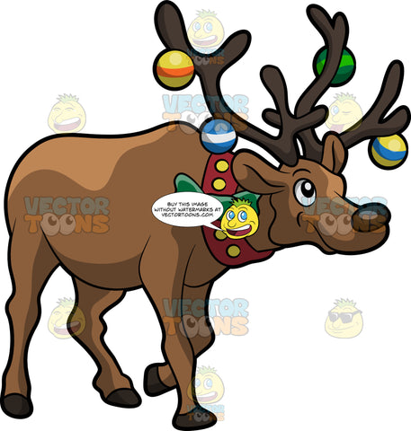 A Decorated Reindeer