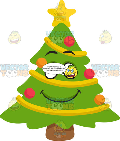 A Smiling Christmas Tree