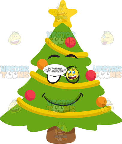A Winking Christmas Tree