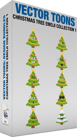 Christmas Tree Emoji Collection 1