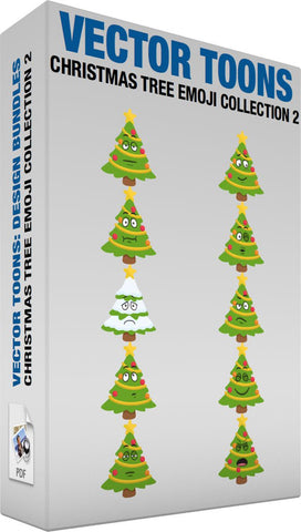 Christmas Tree Emoji Collection 2