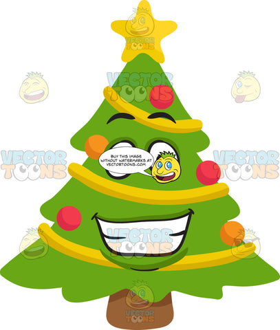 A Grinning Christmas Tree