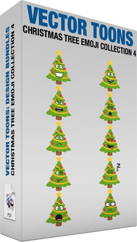 Christmas Tree Emoji Collection 4