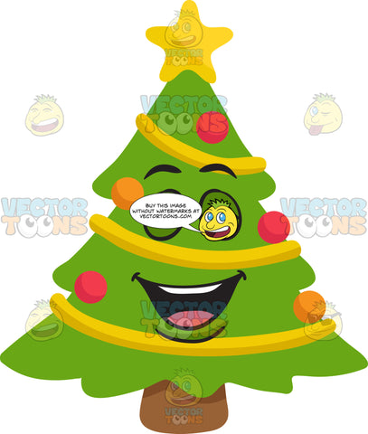 A Laughing And Joyful Christmas Tree