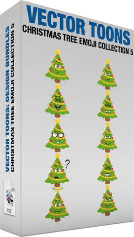 Christmas Tree Emoji Collection 5