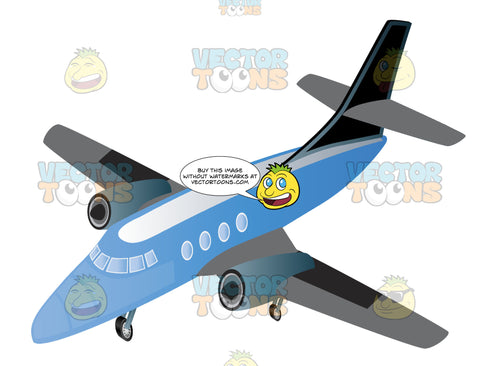 Blue Jet Airplane Commercial Passenger Airline