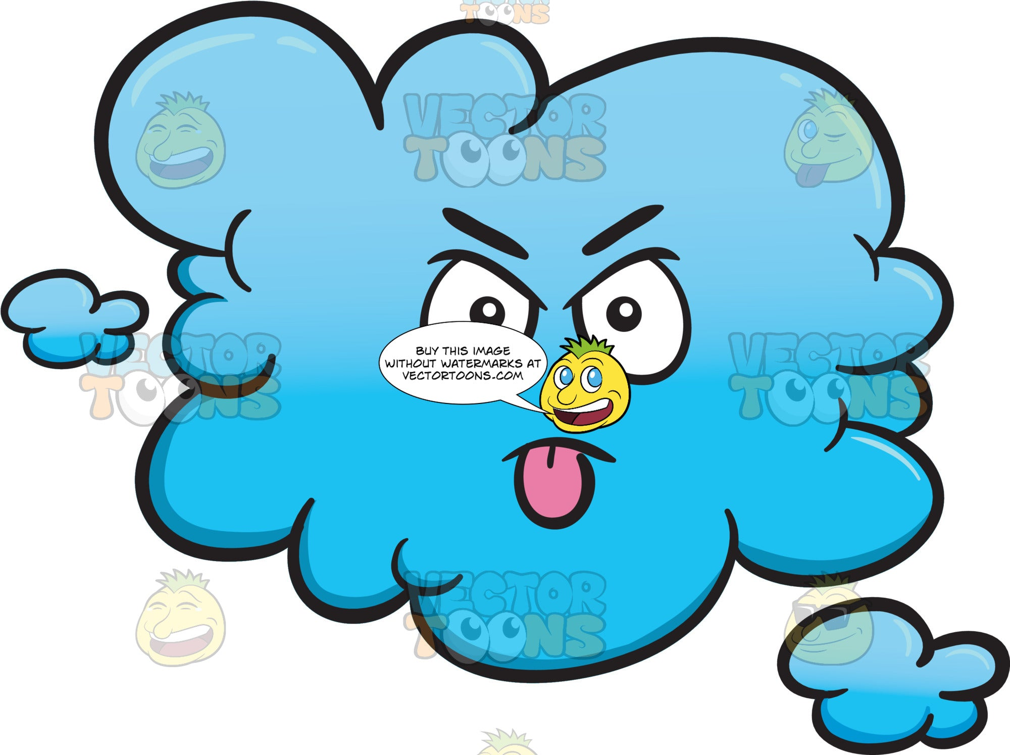 cloud looking pissed sticking out tongue emoji clipart cartoons by vectortoons https vectortoons com products cloud looking pissed sticking out tongue emoji