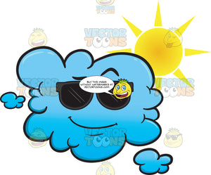 Cloud Looking Sunny And Cool In Sunglasses Emoji