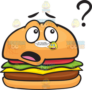Clueless Cheeseburger Looking At Question Mark