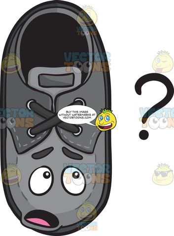 Clueless Shoe Staring At Question Mark Emoji