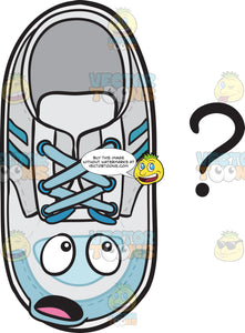 Clueless Sneakers Staring At Question Mark Emoji