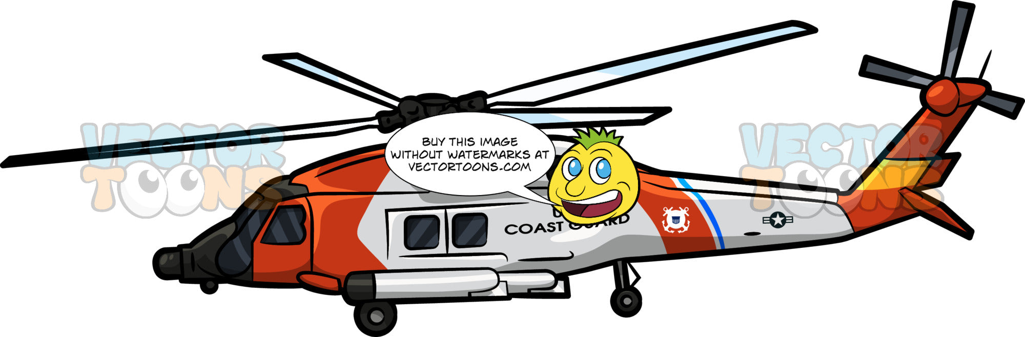 The USCGC Jayhawk helicopter
