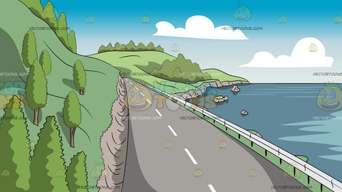 Coastline Road Background