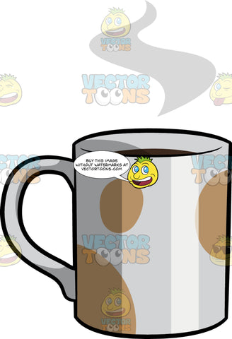 Steaming Coffee In A Fun Mug
