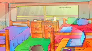 College Dormitory Room Background