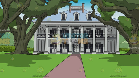 Colonial Mansion House Background
