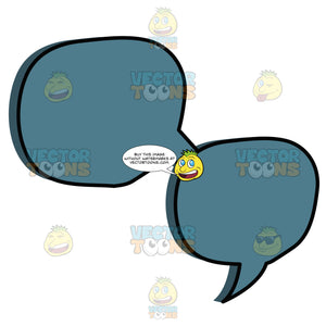 Dual Blue Round Circle Talk Bubbles Attached