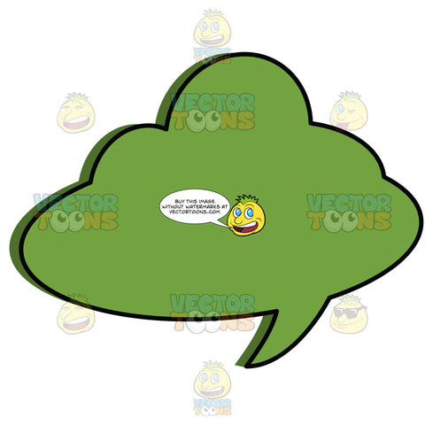 Green Blank Comic Talk Clould Balloon