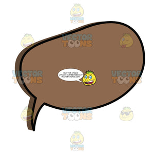 Single Round Brown Comic Talk Circle Balloon