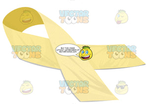 Yellow Memorial Support Our Troops Ribbon