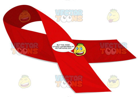 Red Hiv And Aids Awarness Ribbon