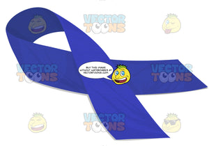 Dark Blue Awarness Ribbon