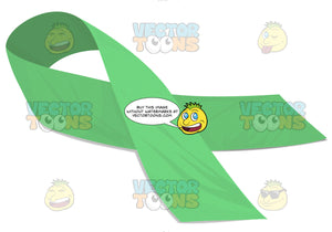 Bright Green Social Awarness Ribbon