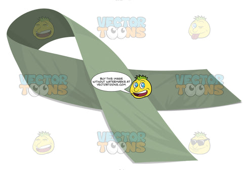 Minty Green Social Awarness Ribbon Pin Scroll