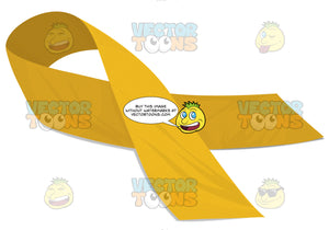 Golden Yellow Social Awarness Remembrance Memorial Ribbon Pin
