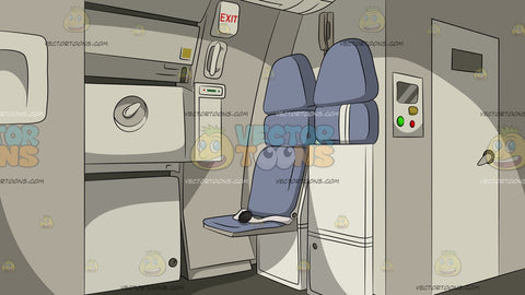 Commercial Airplane Jump Seats Background